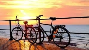 Going for a ride with a bike or roller-skate.